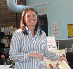 Jean at a Library Event