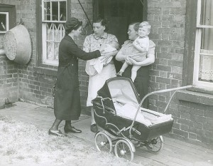 District nurse with pram