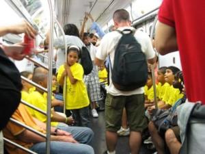 Children on a train